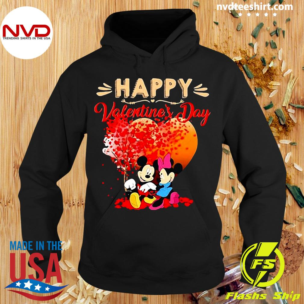 Funny Mickey And Mouse Happy Valentine's Day Heart T-s Hoodie