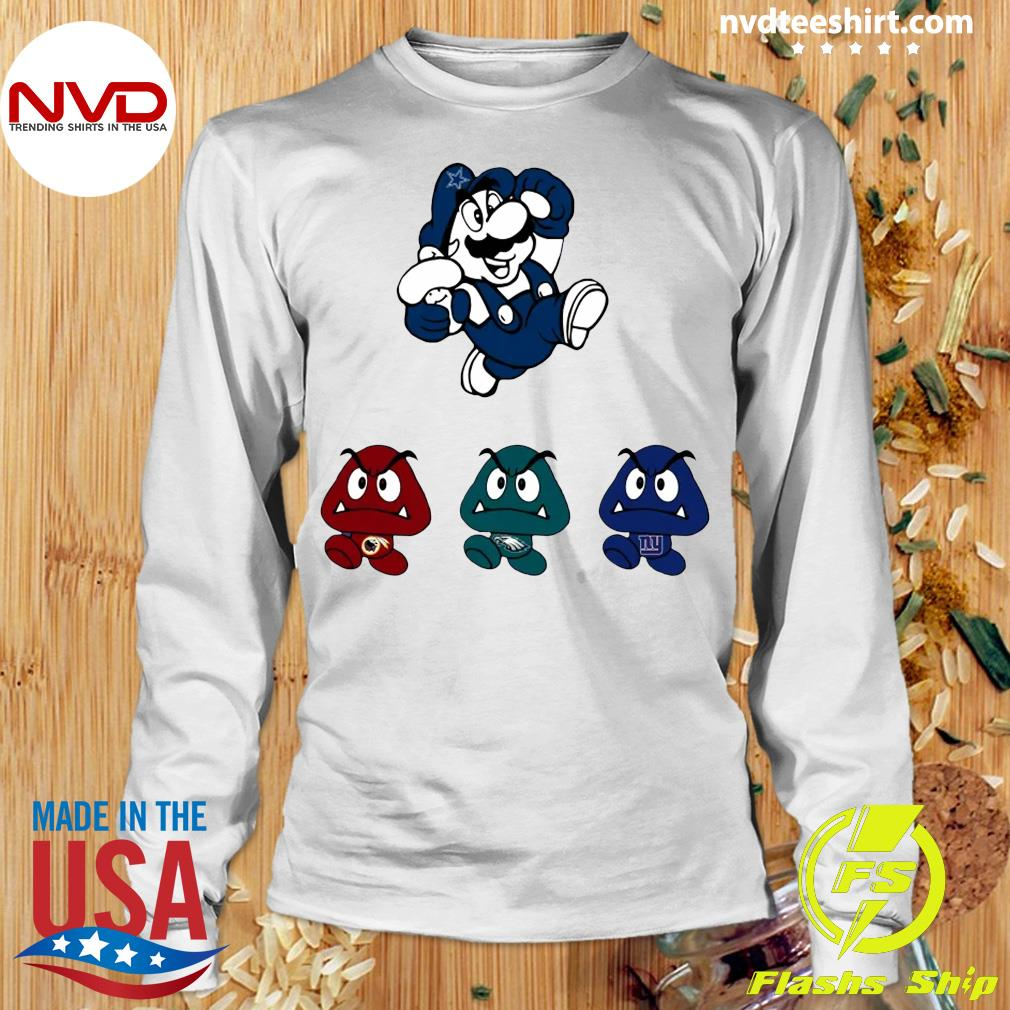 Funny Super Mario Team Dallas Cowboys T-s Longsleeve