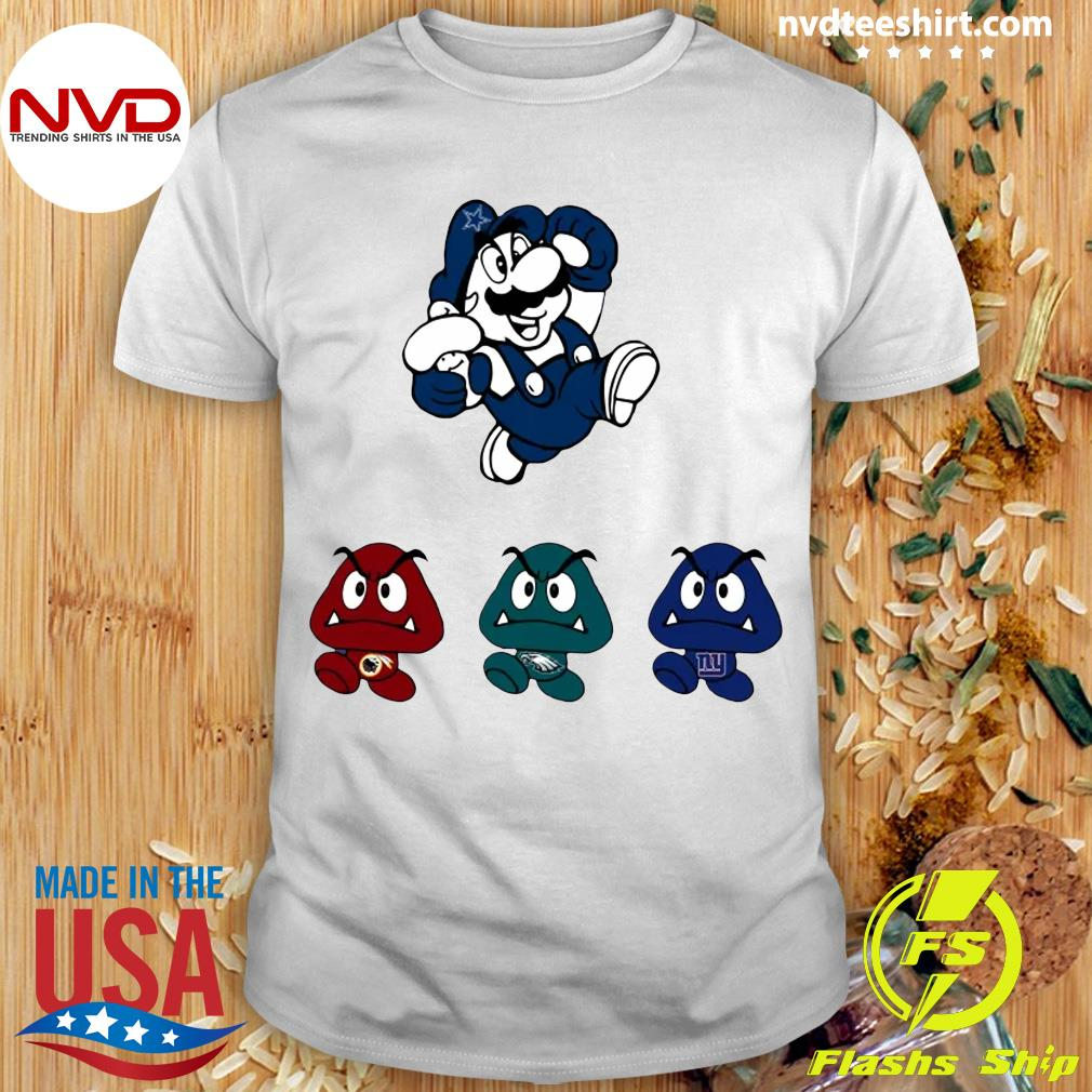 Funny Super Mario Team Dallas Cowboys T-shirt