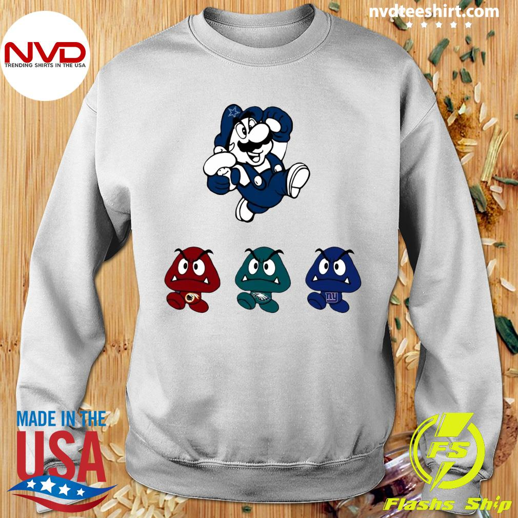 Funny Super Mario Team Dallas Cowboys T-s Sweater