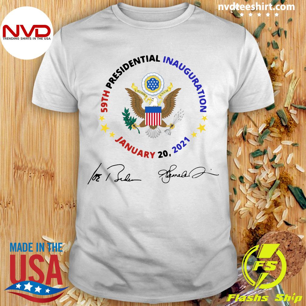 Official 59th Presidential Inauguration January 20 2021 Joe Biden Kamala Harris Signatures T-shirt