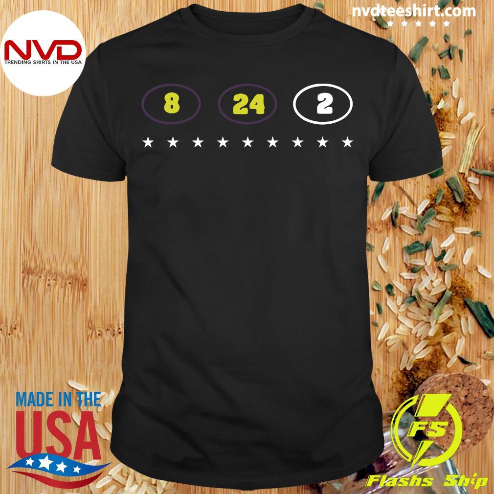Official 8 24 2 Kobe Gianna Bryant Tribute T-shirt