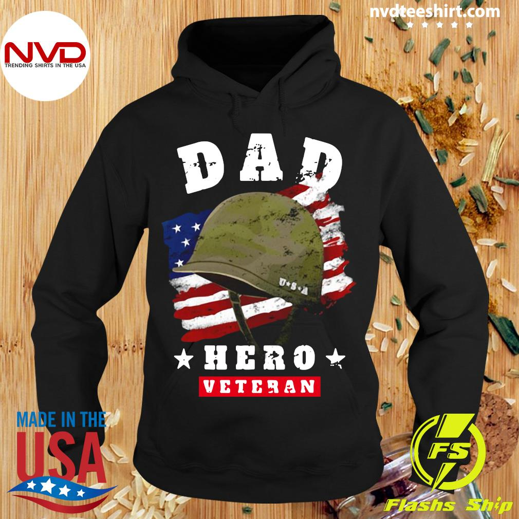 Official American Flag Dad Us Army Veteran Hero Father's Day T-s Hoodie