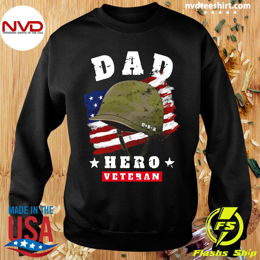 Official American Flag Dad Us Army Veteran Hero Father's Day T-s Sweater
