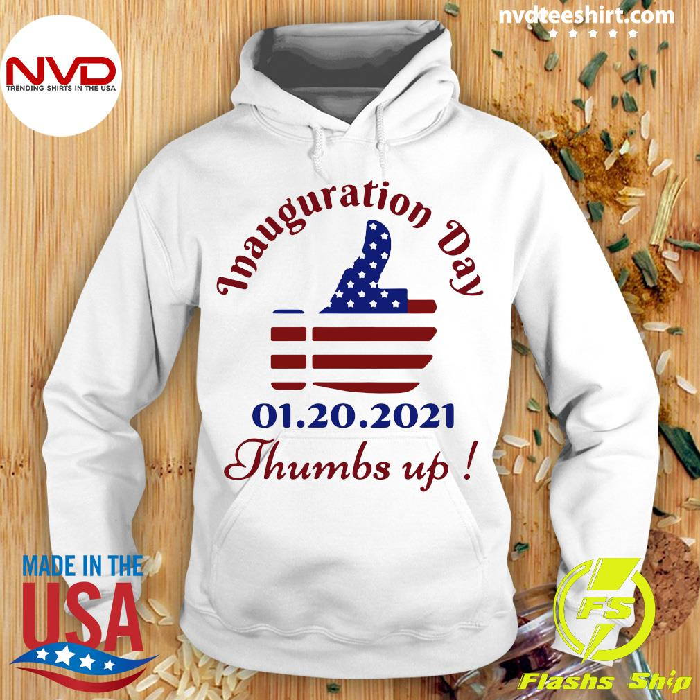 Official American Flag Inauguration Day 1 20 2021 Thumbs Like Icon T-s Hoodie