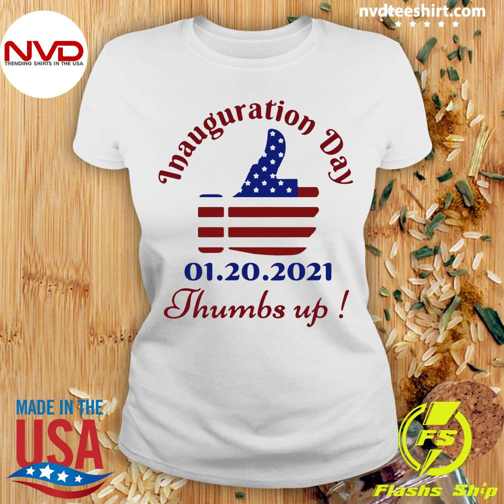 Official American Flag Inauguration Day 1 20 2021 Thumbs Like Icon T-s Ladies tee