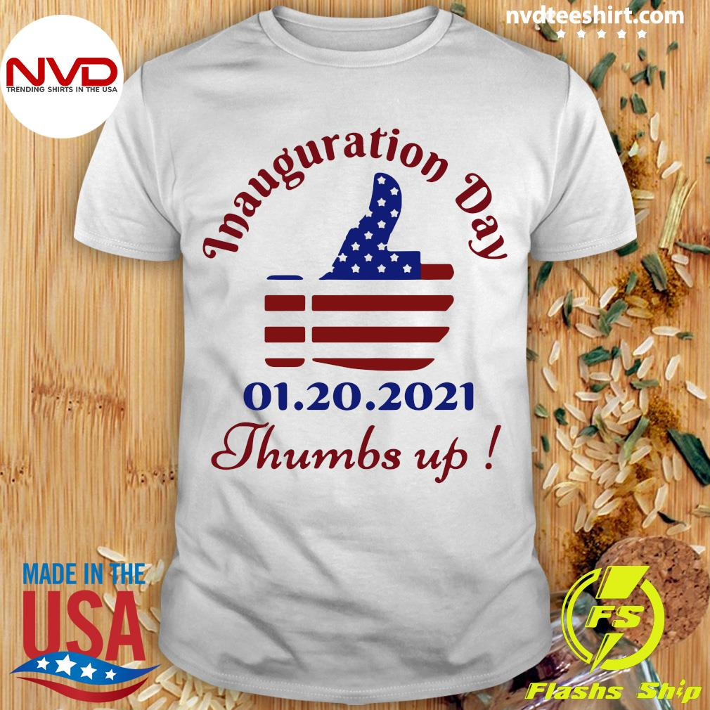 Official American Flag Inauguration Day 1 20 2021 Thumbs Like Icon T-shirt