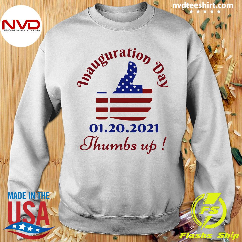 Official American Flag Inauguration Day 1 20 2021 Thumbs Like Icon T-s Sweater