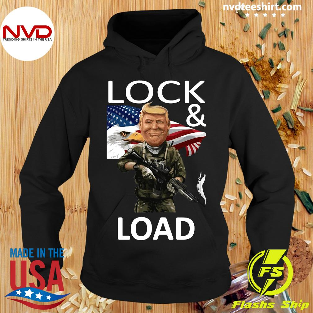 Official American Flag Trump Lock And Load T-s Hoodie