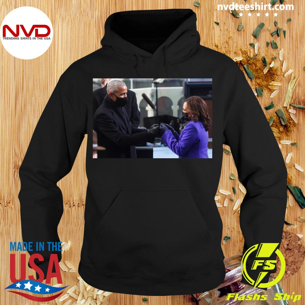 Official Barack Obama Greeting Vice President Kamala Harris T-s Hoodie