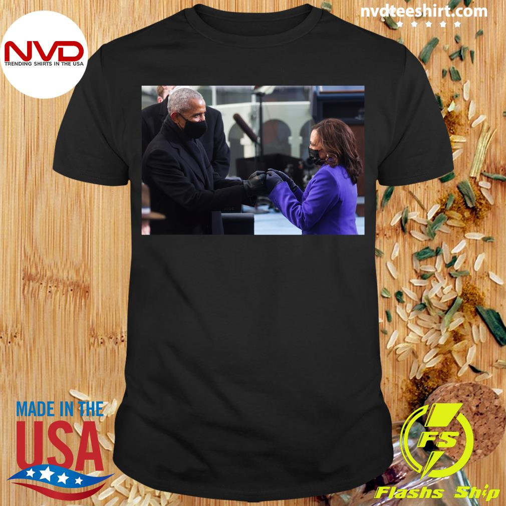 Official Barack Obama Greeting Vice President Kamala Harris T-shirt