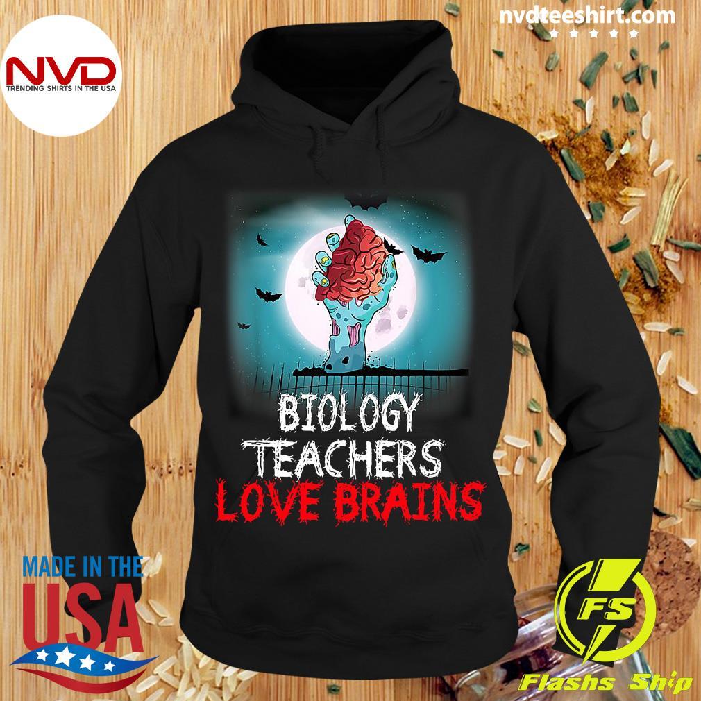 Official Biology Teachers Love Brains Novelty Halloween T-s Hoodie