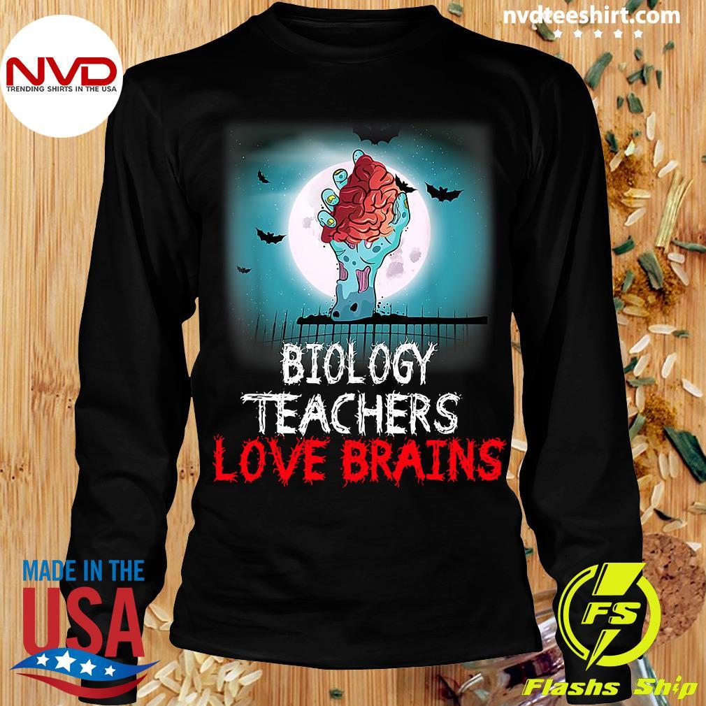 Official Biology Teachers Love Brains Novelty Halloween T-s Longsleeve