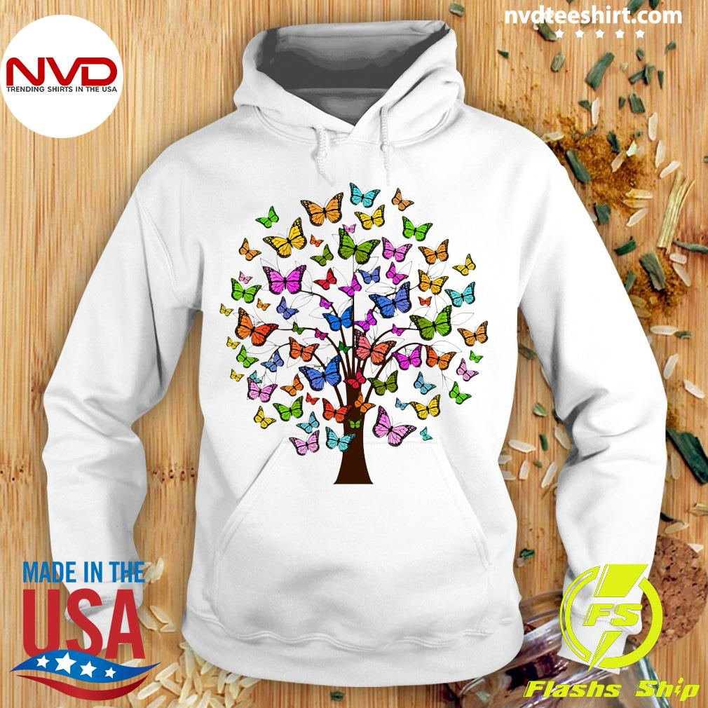 Official Butterflies In A Tree T-s Hoodie