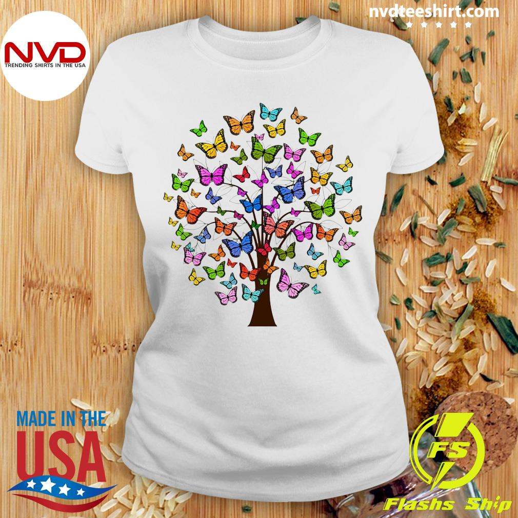 Official Butterflies In A Tree T-s Ladies tee