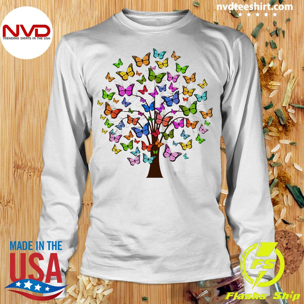 Official Butterflies In A Tree T-s Longsleeve