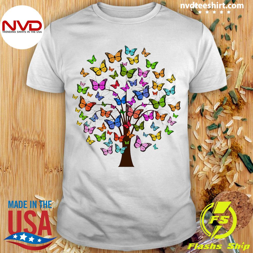 Official Butterflies In A Tree T-shirt