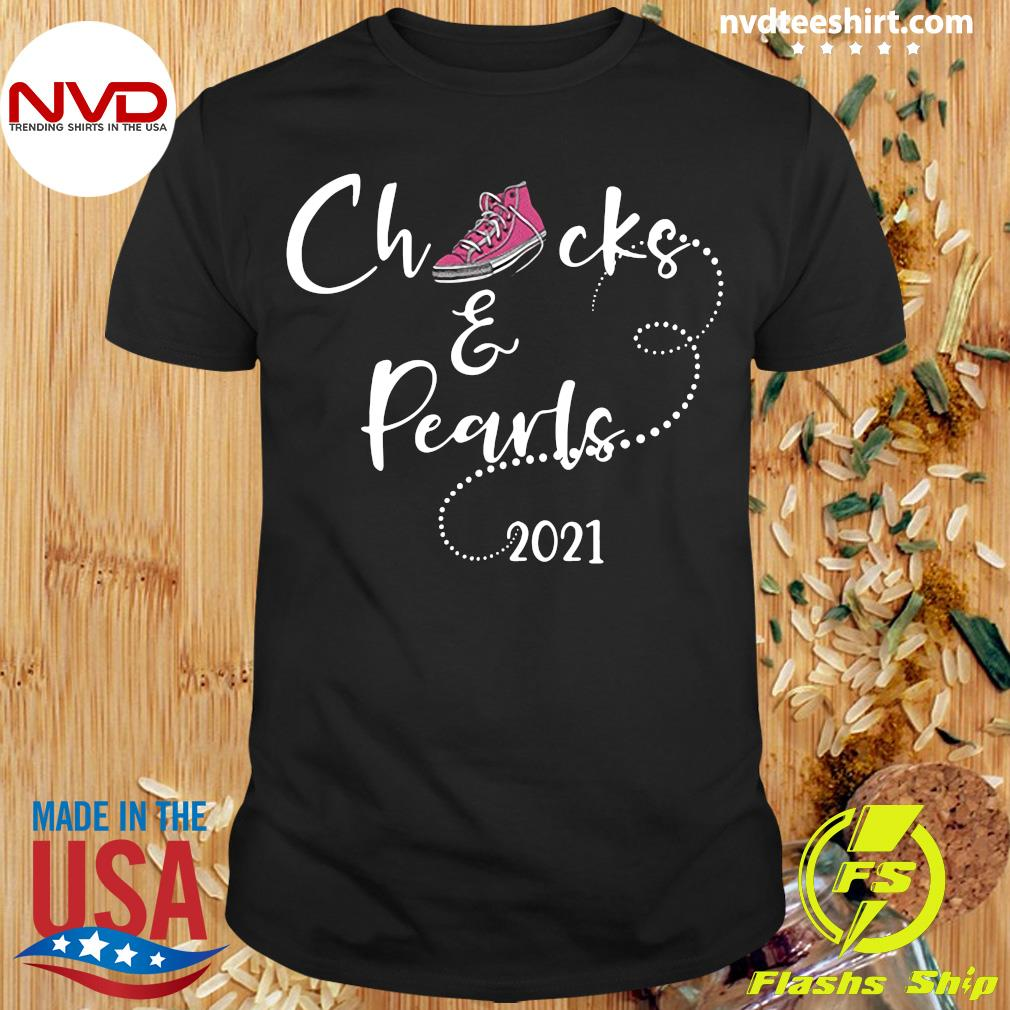 Official Chucks and Pearls 2021 Shoes T-shirt