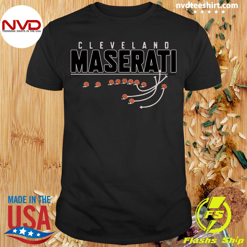 Official Cleveland Browns Maserati T-shirt
