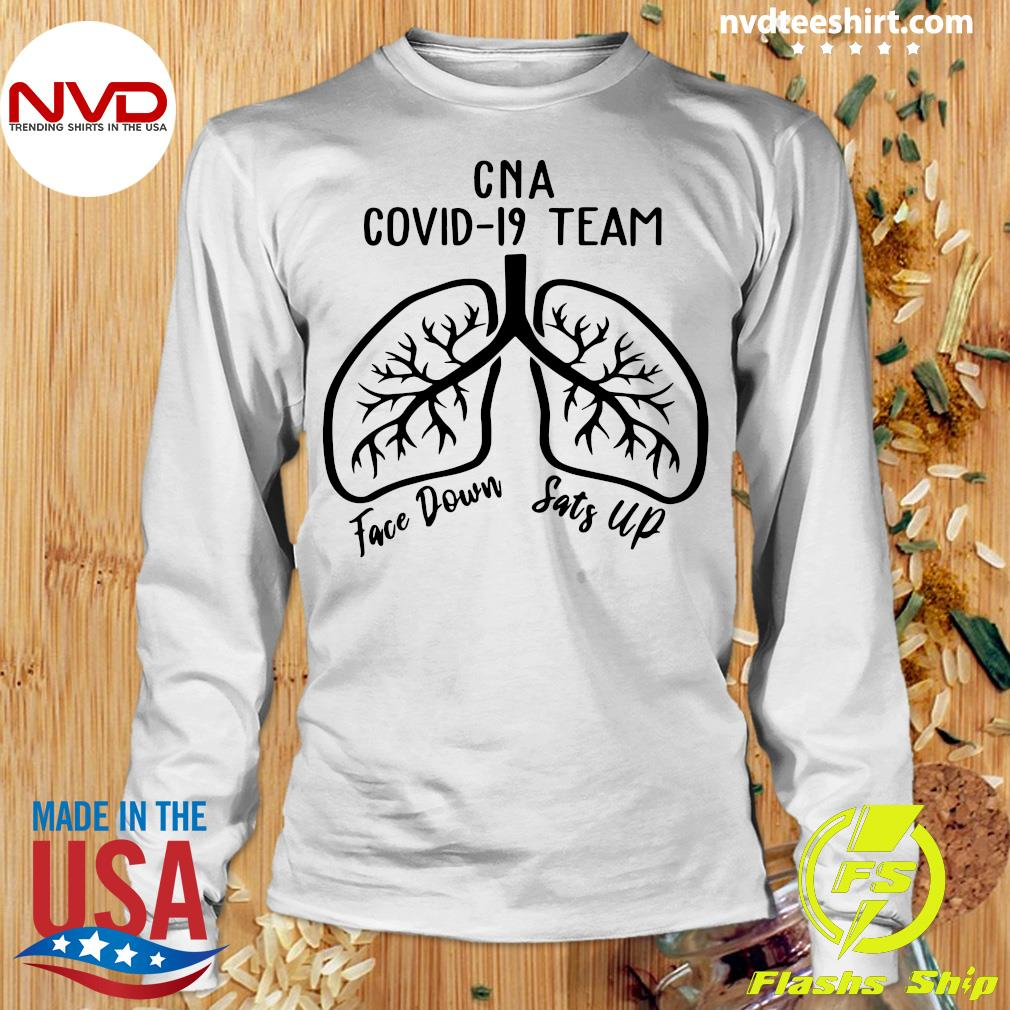 Official CNA Covid 19 Team Face Down Sats Up T-s Longsleeve