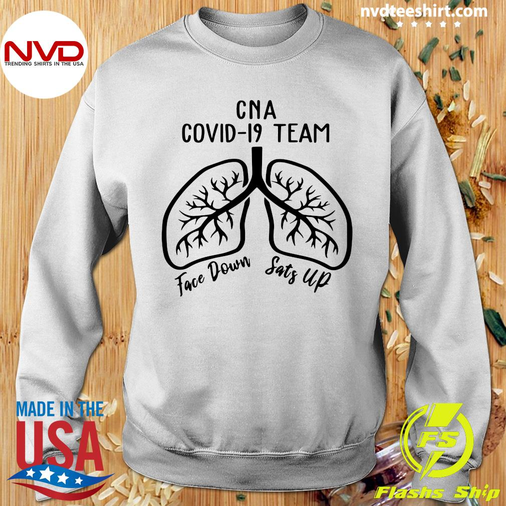 Official CNA Covid 19 Team Face Down Sats Up T-s Sweater