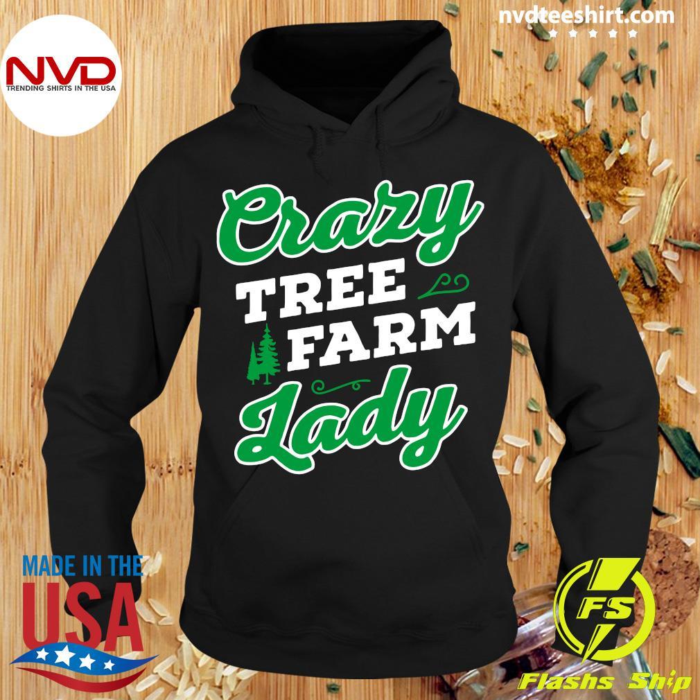 Official Crazy Tree Farm Lady Christmas Tree Merry Xmas T-s Hoodie