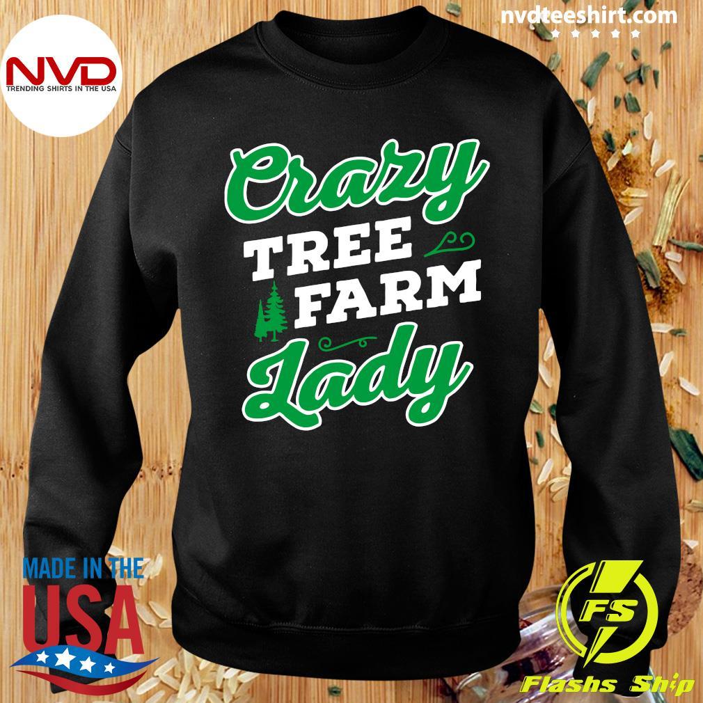 Official Crazy Tree Farm Lady Christmas Tree Merry Xmas T-s Sweater