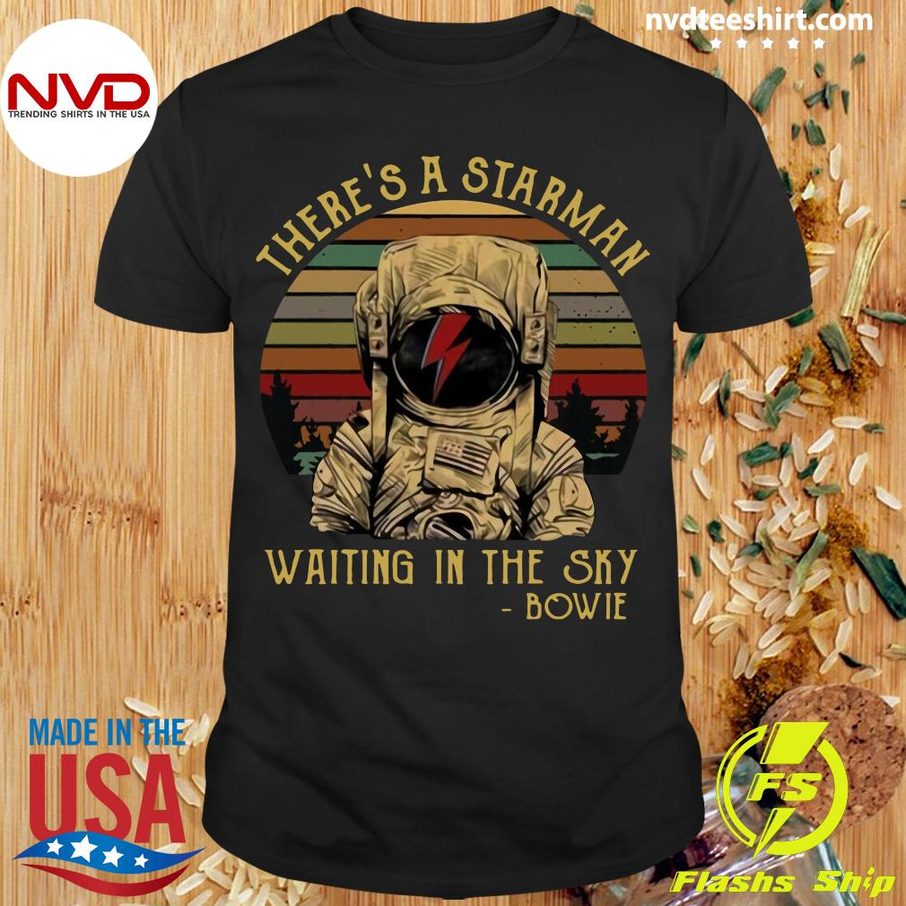 Official David Bowie There's A Starman Waiting In The Sky Bowie Vintage T-shirt