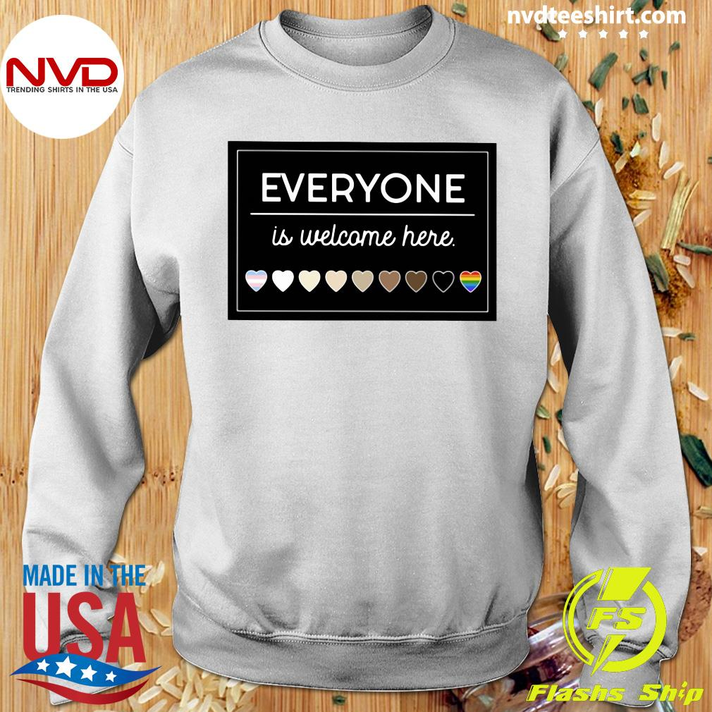 Official Everyone Is Welcome Here LGBT T-s Sweater