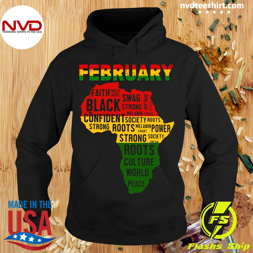 Official February Faith Trust Hope Black Confident T-s Hoodie