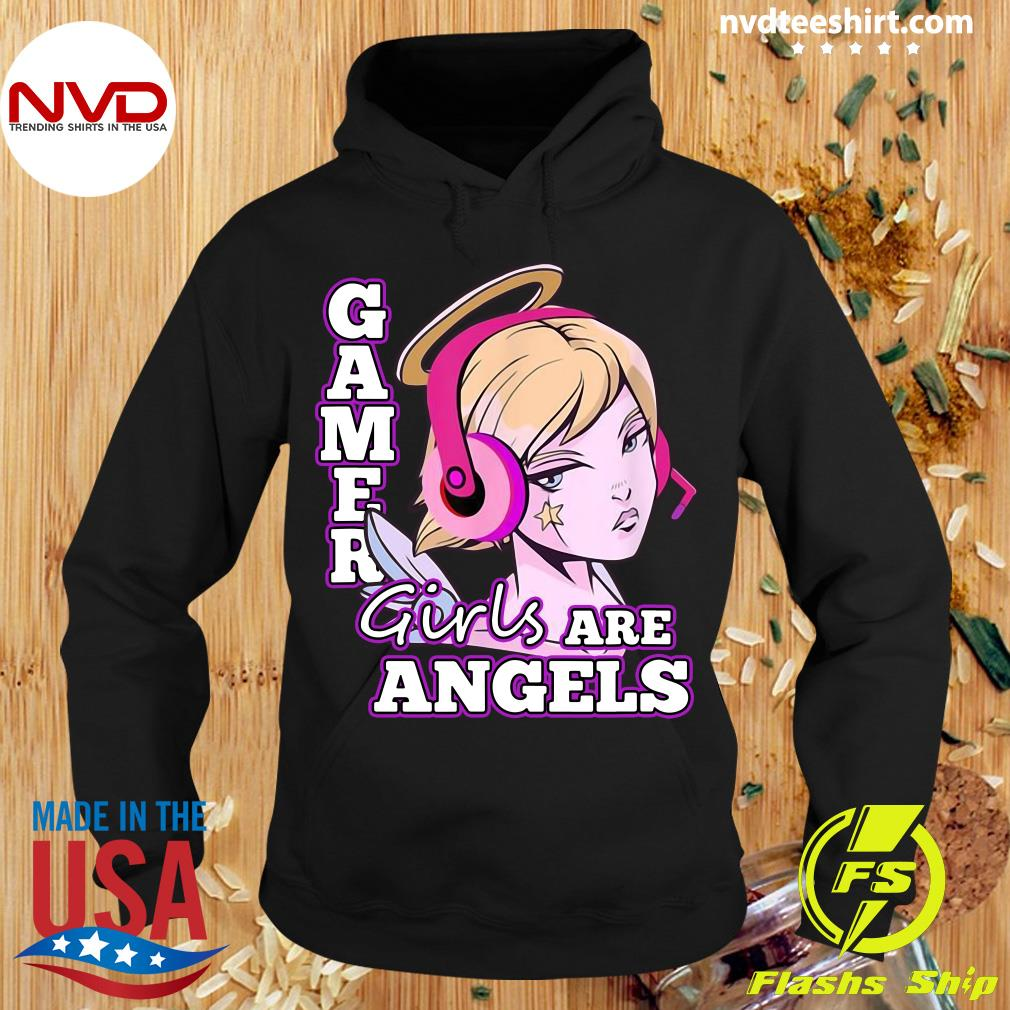 Official Gamer Girls Are Angels T-s Hoodie