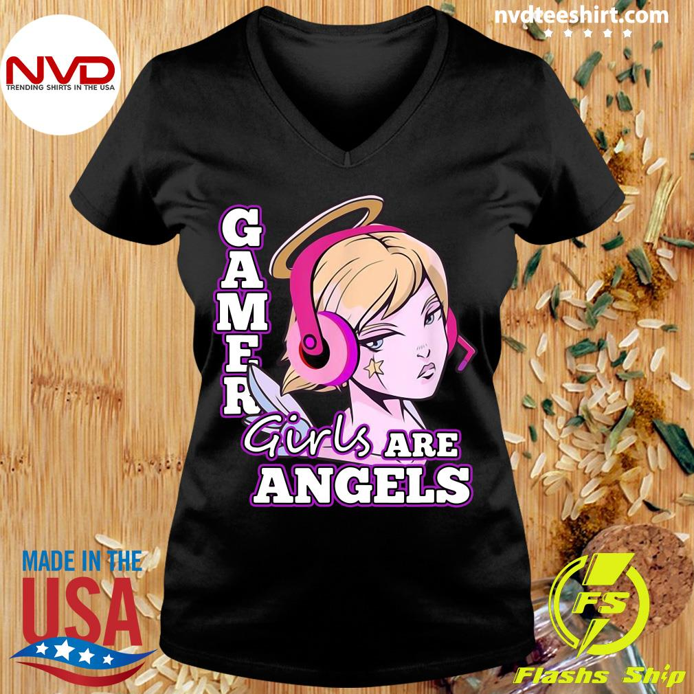 Official Gamer Girls Are Angels T-s Ladies tee