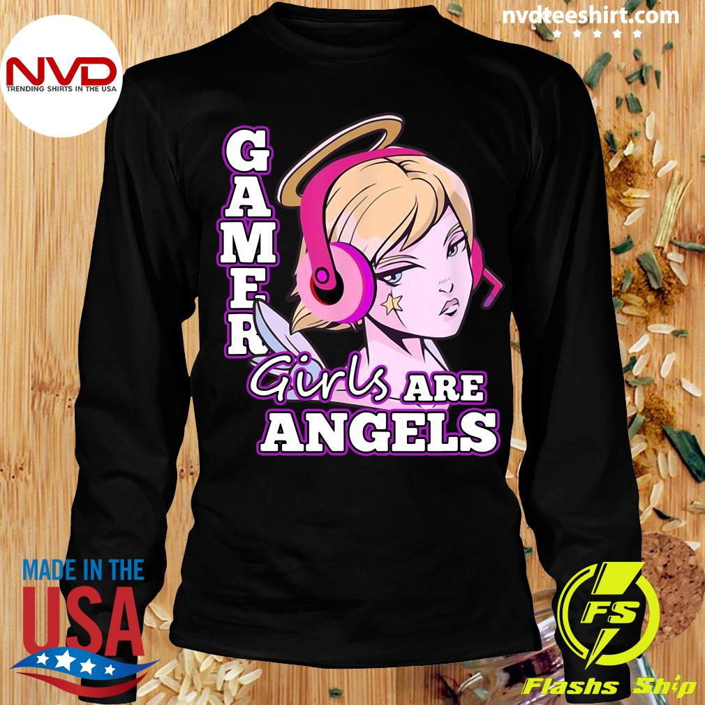 Official Gamer Girls Are Angels T-s Longsleeve
