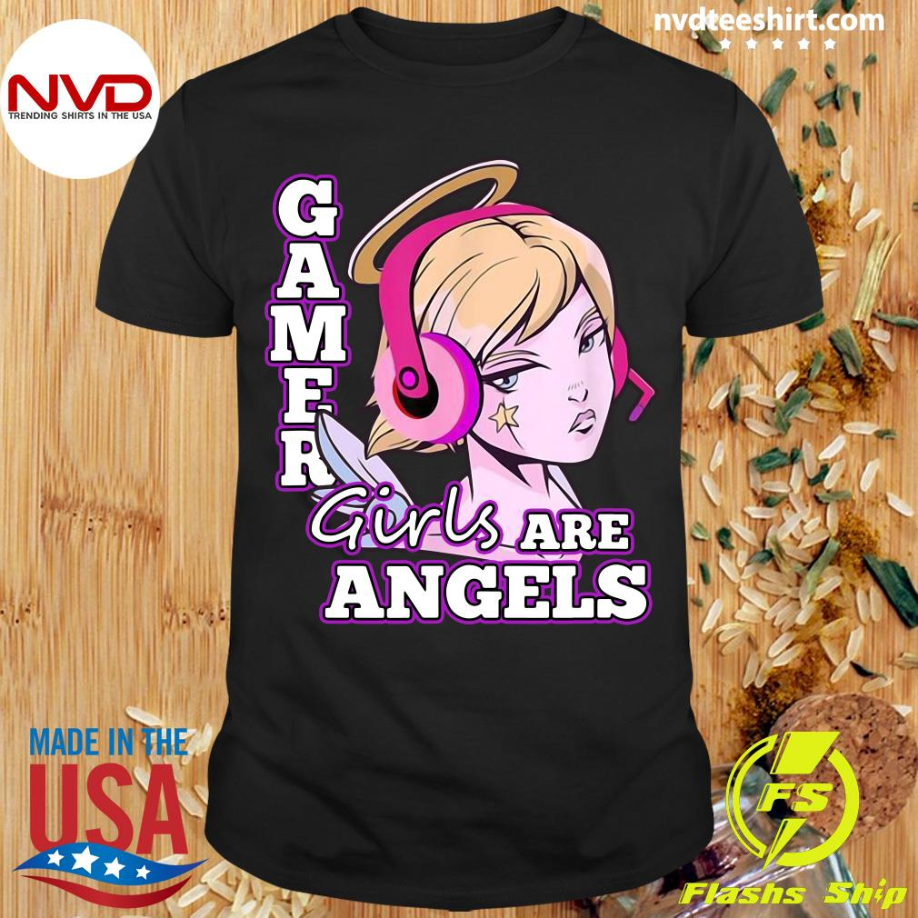 Official Gamer Girls Are Angels T-shirt