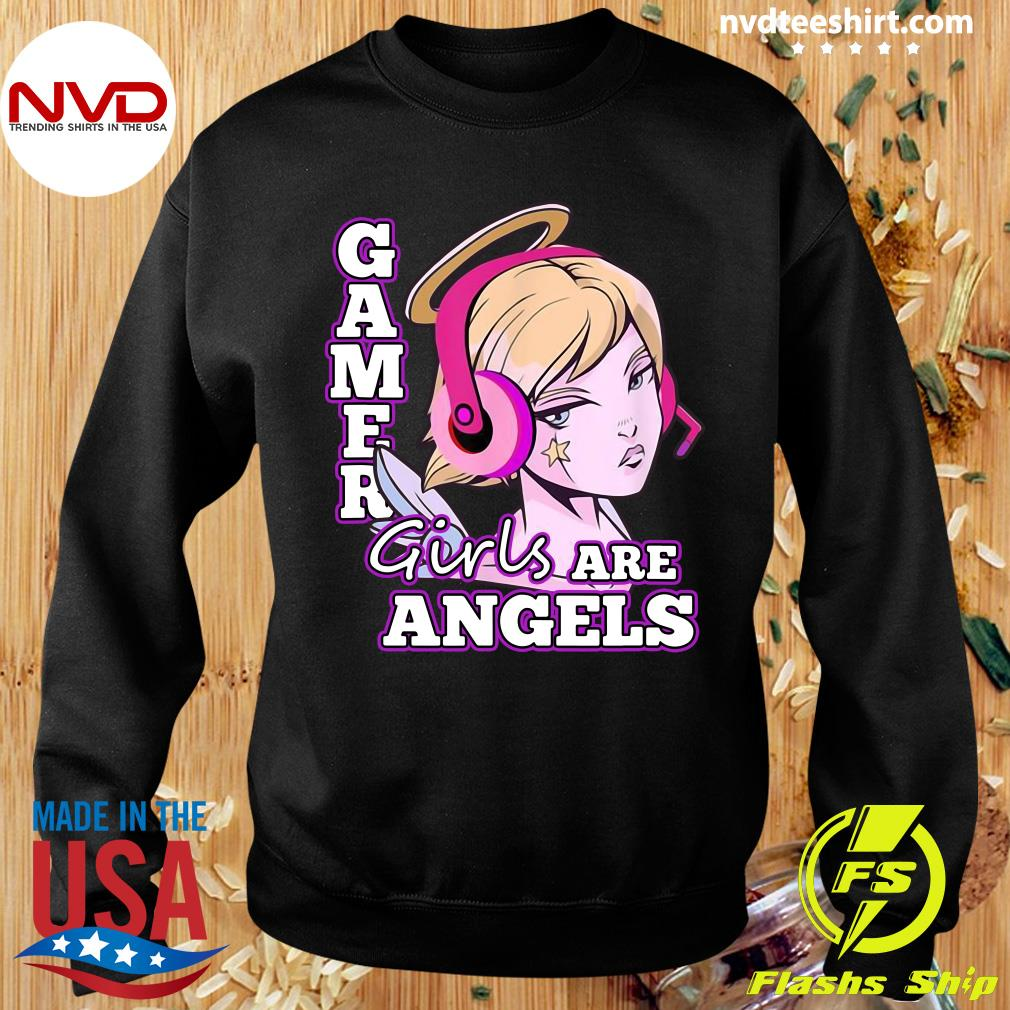 Official Gamer Girls Are Angels T-s Sweater