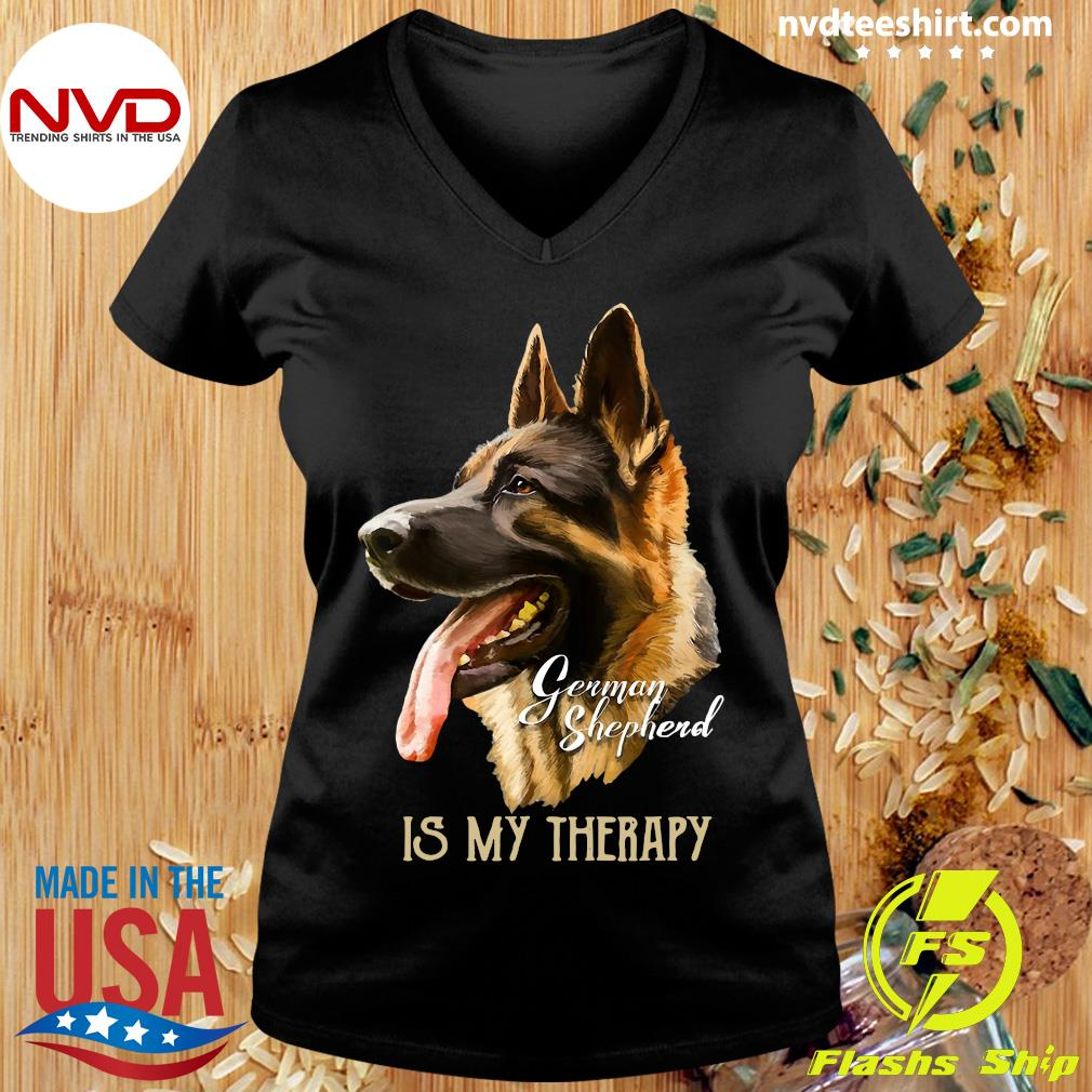 Official German Shepherd Is My Therapy T-hirt Ladies tee