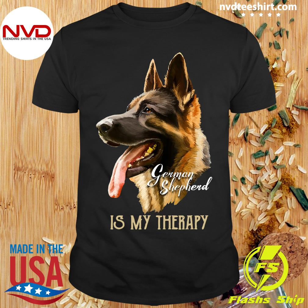Official German Shepherd Is My Therapy T-hirt