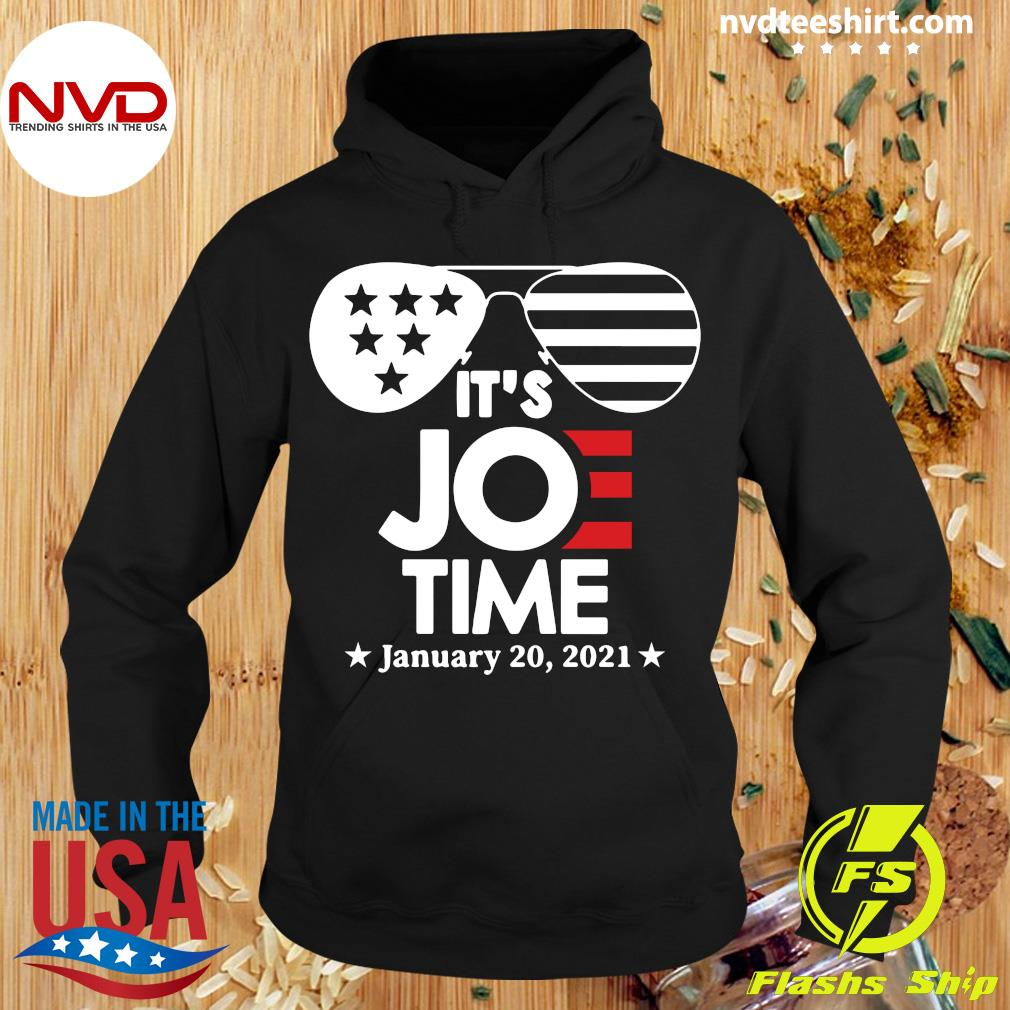 Official Glasses Us Flag Its Joe Time January 20 2021 T-s Hoodie