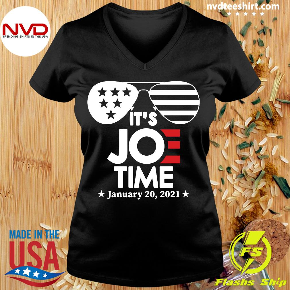 Official Glasses Us Flag Its Joe Time January 20 2021 T-s Ladies tee