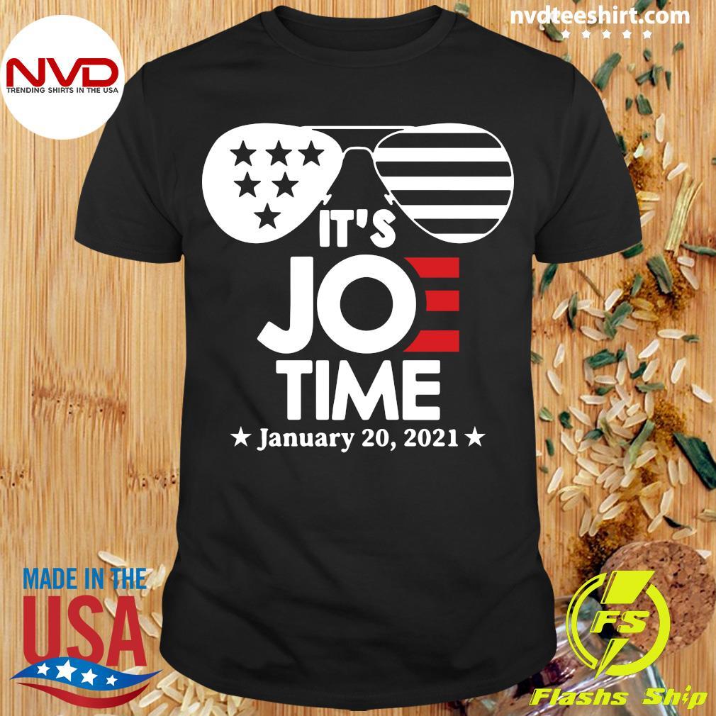 Official Glasses Us Flag Its Joe Time January 20 2021 T-shirt