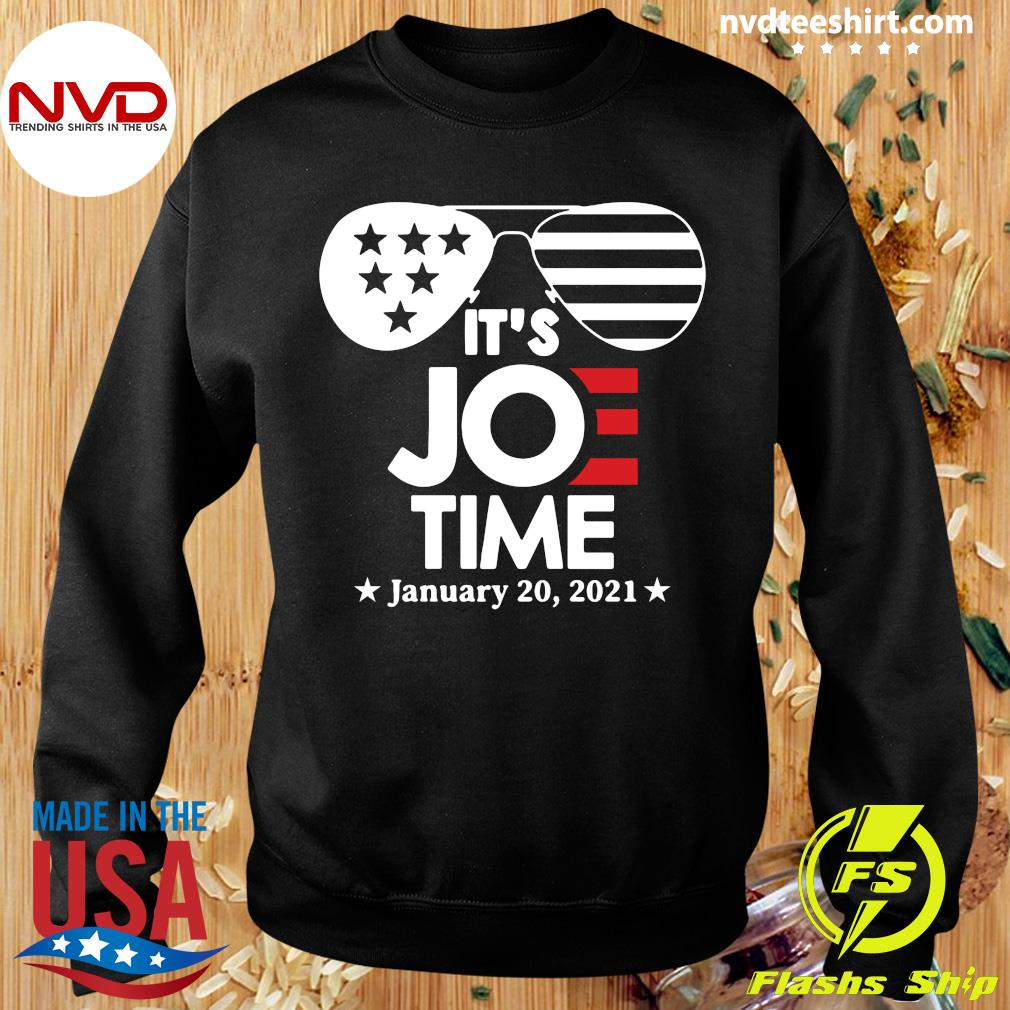 Official Glasses Us Flag Its Joe Time January 20 2021 T-s Sweater