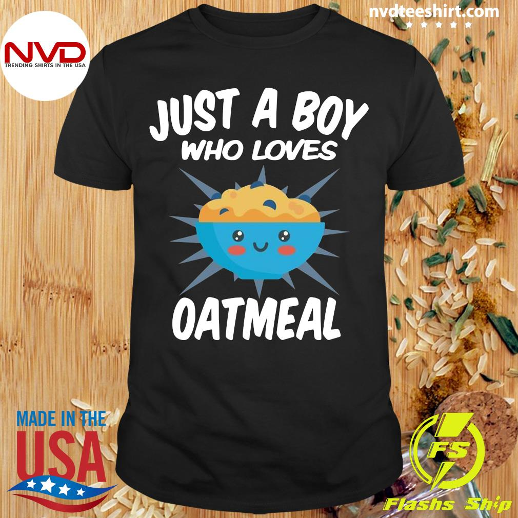 Official Just A Boy Who Loves Oatmeal T-shirt