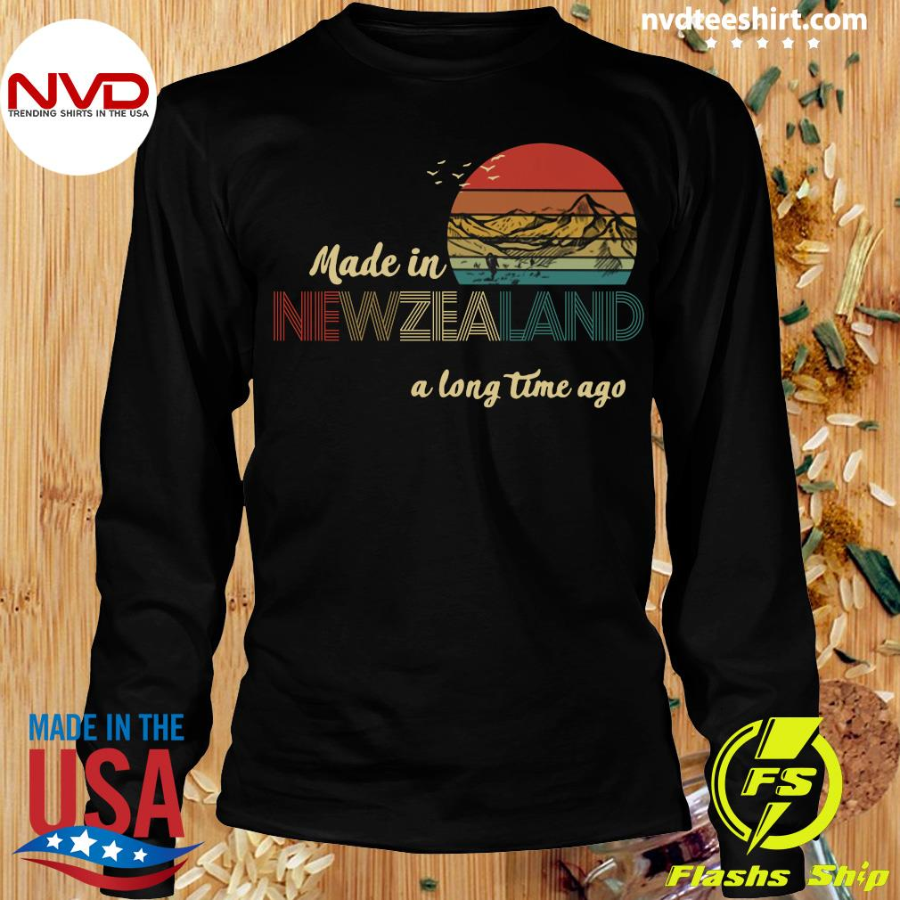 Official Made In New Zealand A Long Time Ago Vintage T-s Longsleeve