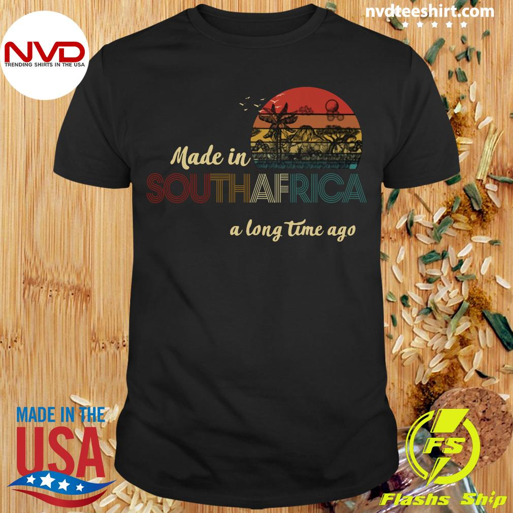 Official Made In South Africa A Long Time Ago Vintage Retro T-shirt