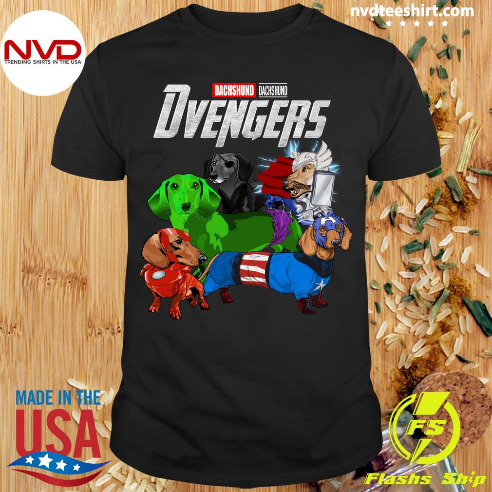 Official Marvel Avengers Endgame Dachshund Dvengers T-shirt