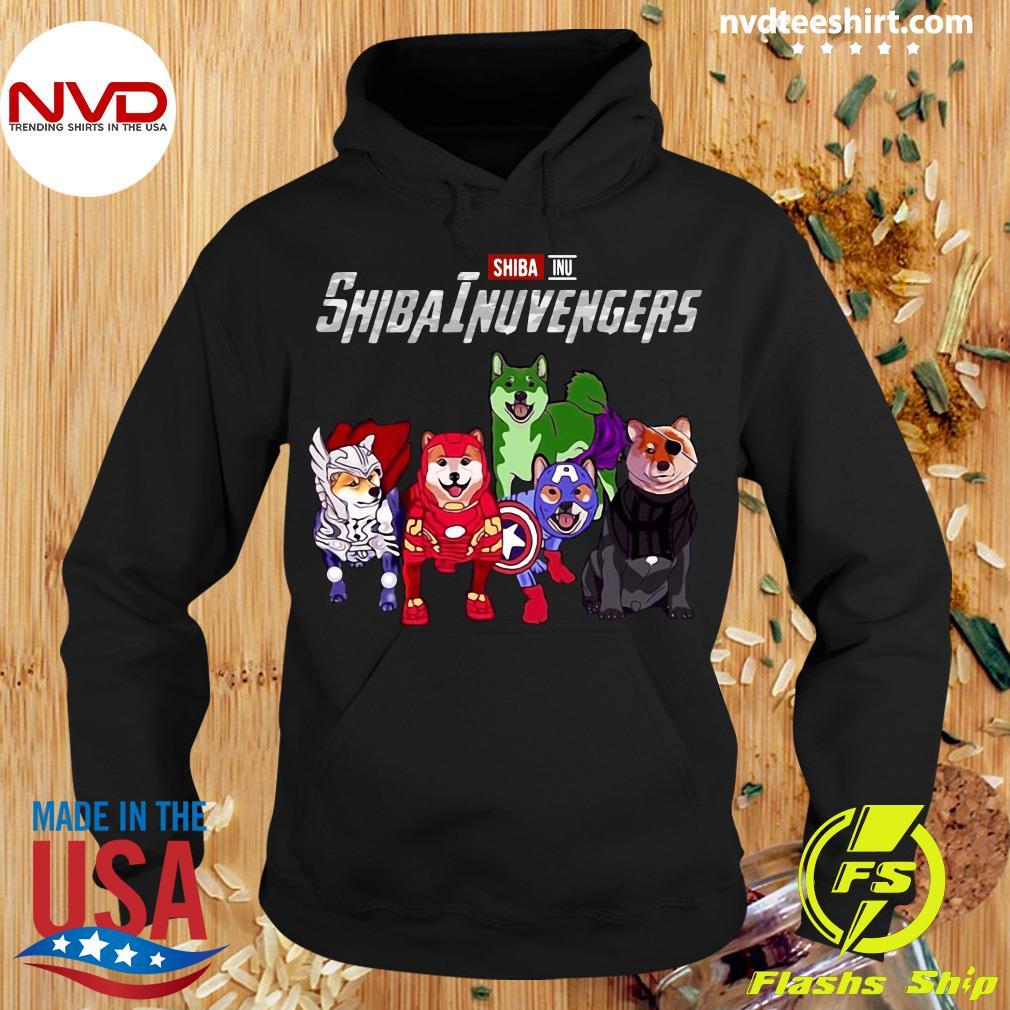 Official Marvel Avengers Endgame Shiba Inu Dog Shibainuvengers T-s Hoodie