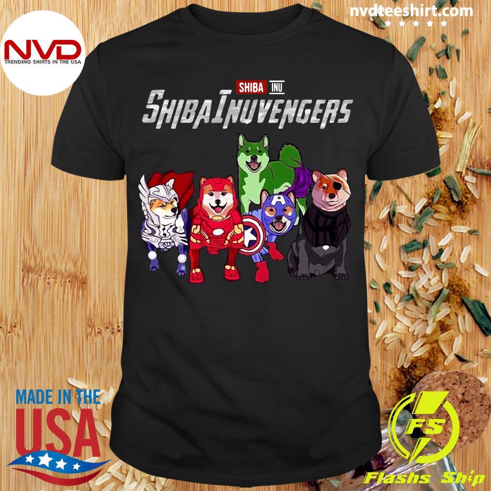 Official Marvel Avengers Endgame Shiba Inu Dog Shibainuvengers T-shirt