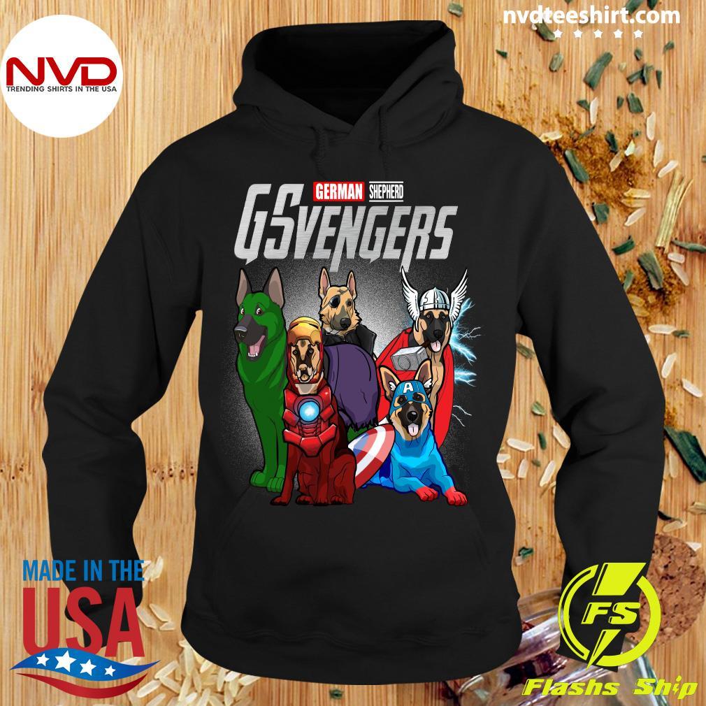 Official Marvel Avengers German Shepherd GSvengers T-s Hoodie