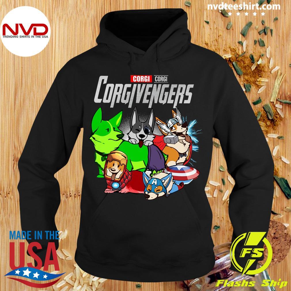 Official Marvel Corgi Corgi Corgivengers T-s Hoodie