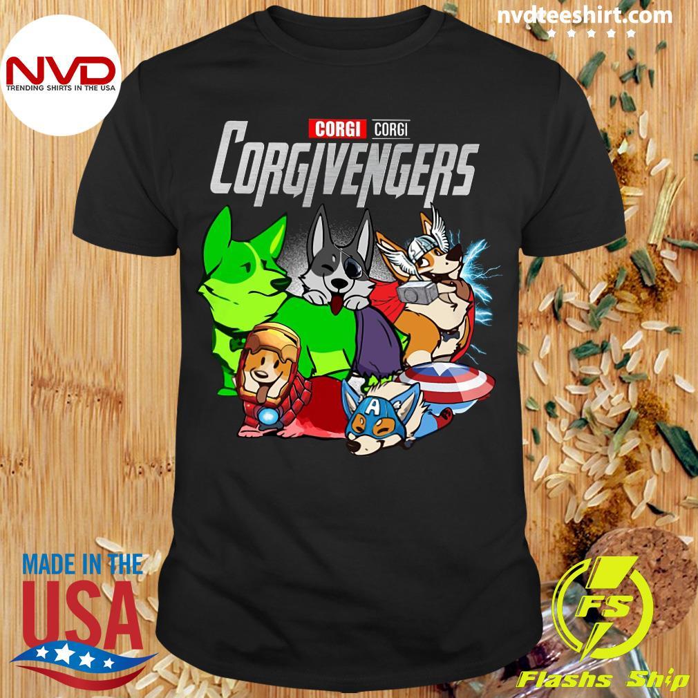 Official Marvel Corgi Corgi Corgivengers T-shirt